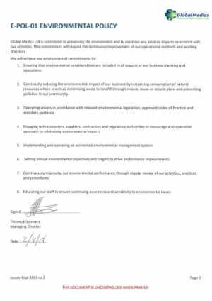 E-POL-01 Environmental policy 020818