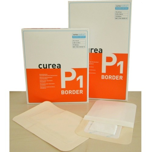 Curea P1 Border - Self-adhesive wound dressing for moderate to highly  exudating wounds